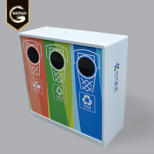 3 Compartments Recycling Waste Bin Garbage Can
