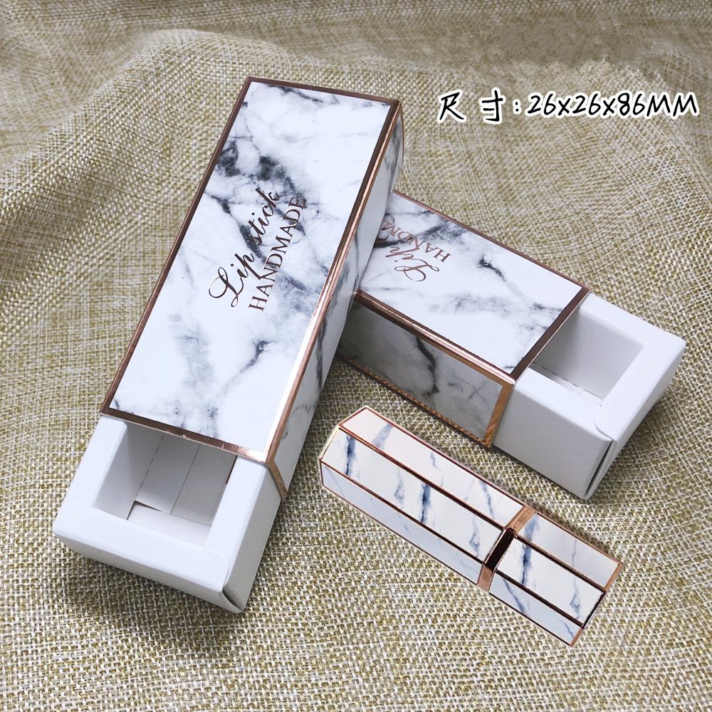 Best marble pattern lipstick packaging box
