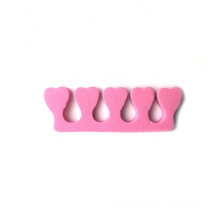 Soft Pedicure Nail Beauty Tools EVA Foam Toe Separators With 5 Toes For Nail Polish