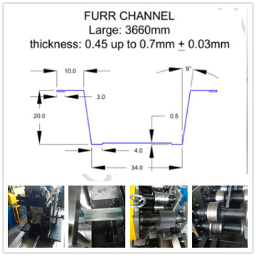 Furring Channel/Omega Channel Roll Forming Machine