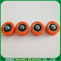 Solid Nylon Roller With Miniature Bearing