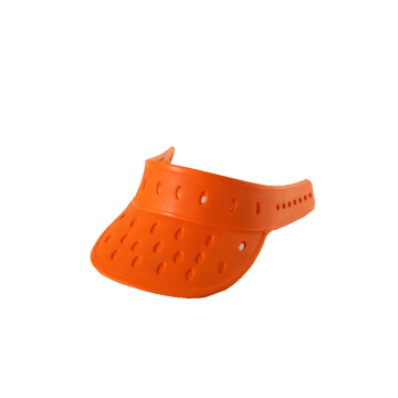 orange waterproof EVA foam sun visor hats