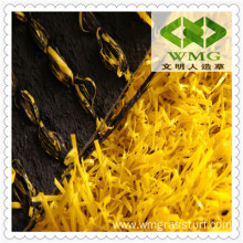Yellow Fibrillated Football Grass Artificial
