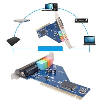 4 Channel 8738 Chip 3D-Audio Stereo PCI Sound Card for Win7 64 Bit