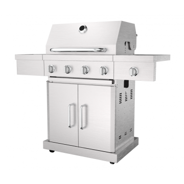Four Burner Gas Barbecue With Side Burner