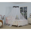 Bed Netting Canopy Decoration With Black Feather