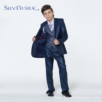 Navy Children 3 Piece Blazer Pant Kids Suit