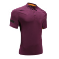 Mens Purple Dry Fit Rugby Wear Polo Shirt