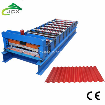 Aluminum corrguated sheet forming machine