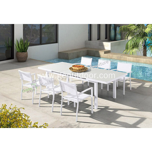 Panlabas na Wicker Dining 5-Piece Set
