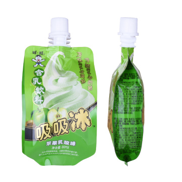 Recyclable juice liquid packing bags with spout