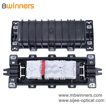 144 Core Horizontal Fiber Optic Closure with 24 Fiber Splice Tray
