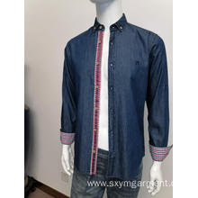 Mens denim long sleeve shirt