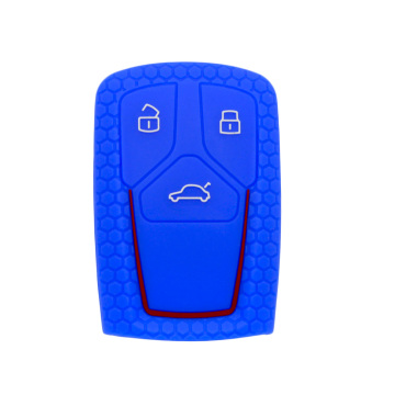 honeycomb silicon Audi B9 car key cover