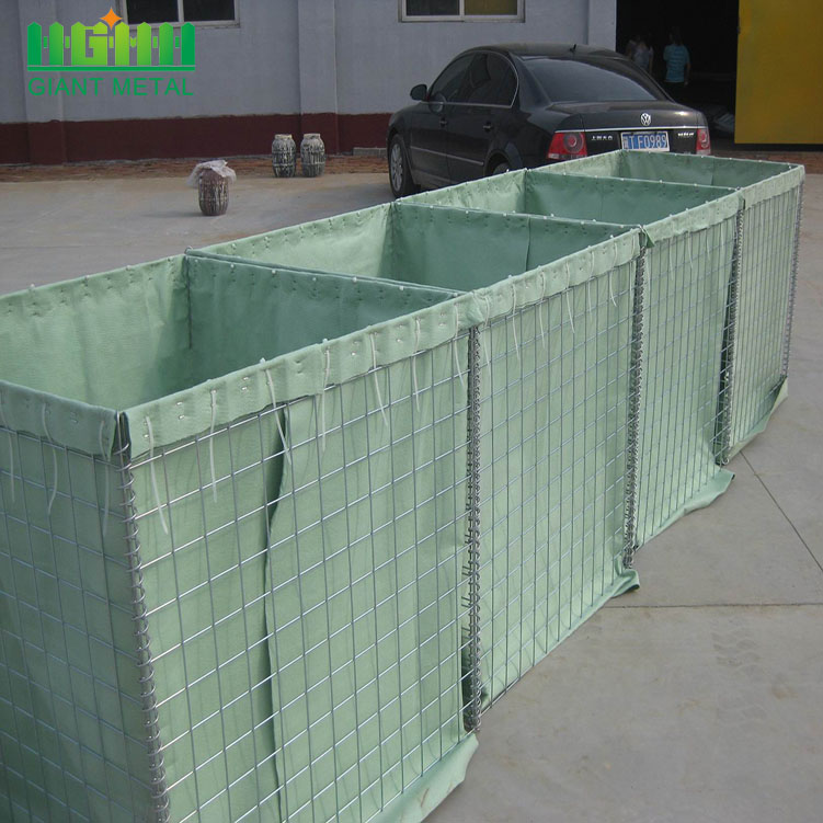 Military Hesco Barriers for a Shooting Range