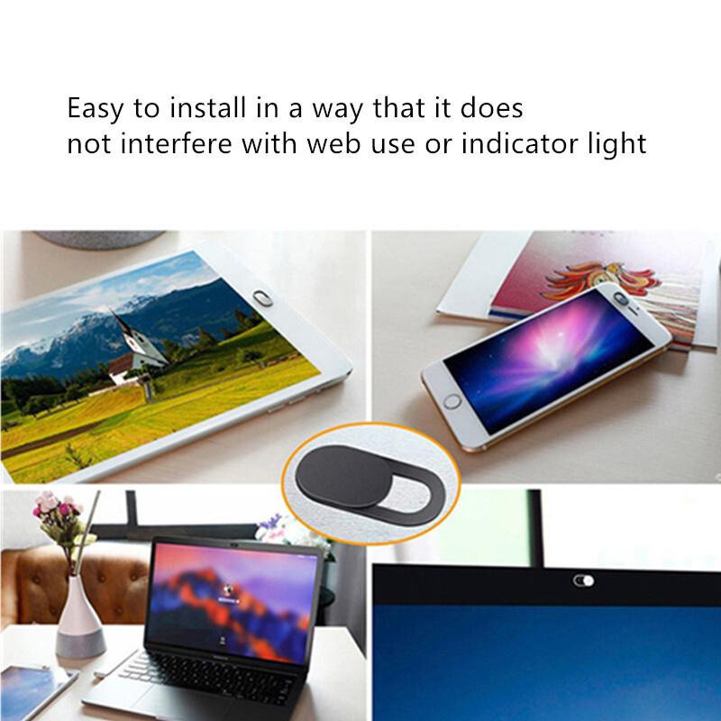 Camera cover For laptops iPad Macbook PC Tablet Shutter Magnet Slider mobile phone lens webcam Cover lenses Privacy Sticker