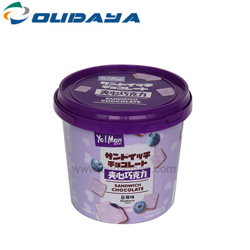 1200mL tamper proof plastic bucket with cover handle