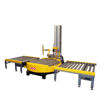 Heavy duty conveyorized  automatic pallet wrapping machine