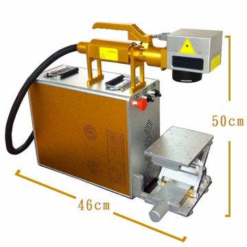 CNC handheld raycus fiber laser marking machine 20w for plastic