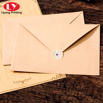 Cheap envelope printed custom logo kraft paper envelope
