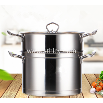 Three layers bottom Stainless Steel Soup Pot