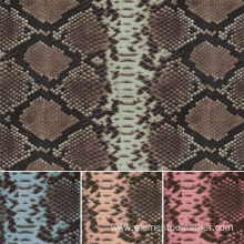 Digital Printing Faux Snake Skin PU Synthetic Leather
