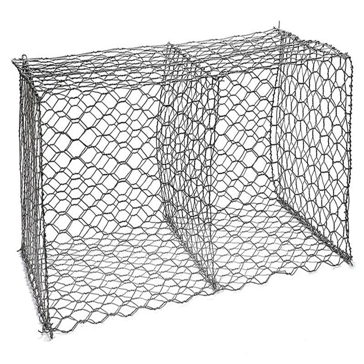 Hexagonal Hole Shape Gabion Application Gabion Wall