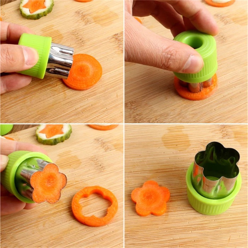 Rice Vegetable Fruit Cutter Mold 8Pcs/set Flowers Cartoon Cutter Mold Stainless Steel Cake Cookie Biscuit Cutting Shape Tools