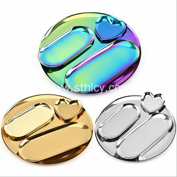 Nordic Stainless Steel Jewelry Plate
