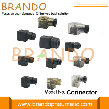 Female DIN 43650 Solenoid Valve Coil Connector Plug