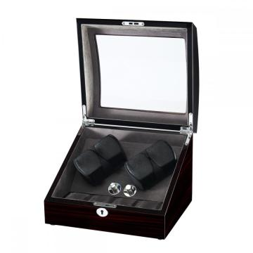 Diplomat Mahogany Wood Four Watch Winder