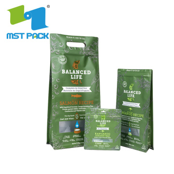 Custom size side gusset pet food bags recyclable