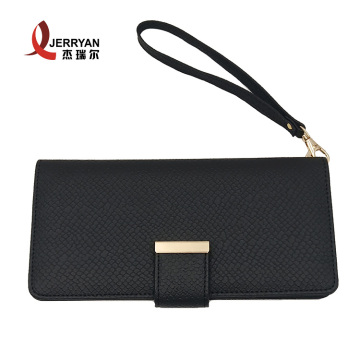 Slim Clutch Coins Purse Wallet with Strap