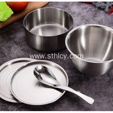 New Stainless-Steel Bowl With Dust Cover