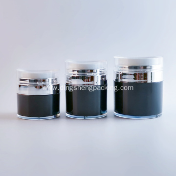 Cosmetic 30ml acrylic skin care cream airless jar 15ml 50ml plastic cosmetic airless jar