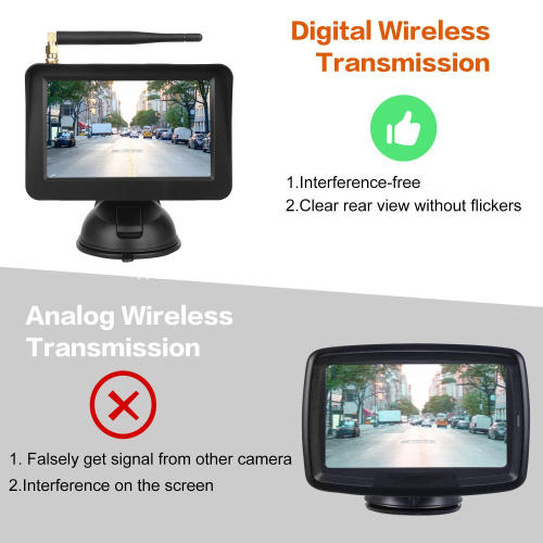 Car Safety Vision Shockproof Rearview License Plate Frame Camera with Reversing Parking Monitor