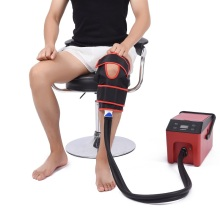 Knee ice cold compression physical therapy system machine