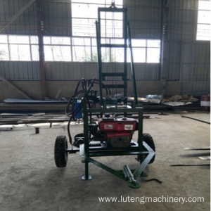 Hydraulic mini portable water well drilling rig