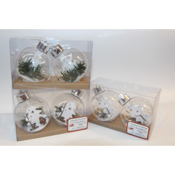 Large Clear Glass Christmas Balls