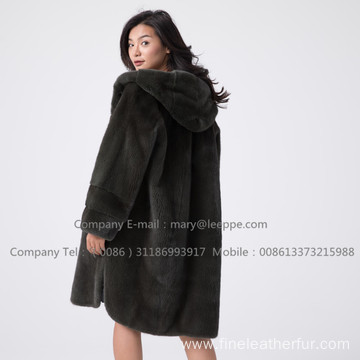 Kopenhagen Velvet Mink Coat For Lady