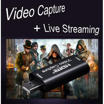 Mini 4K 30 INPUT 1080P 30 Capture USB 2.0 HD Video Capture Card HDMI Phone Computer Game Recording Box Live Streaming Broadcast
