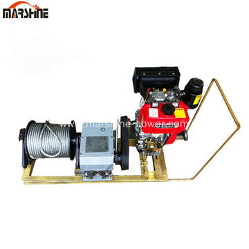 8Ton Single Drum Gasoline Engine Powered Winch