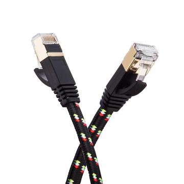 Professional Nylon Braided Cat7 Flat Ethernet Cable