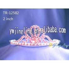 Rhinestone Crowns Tiaras Red Color TR-12582