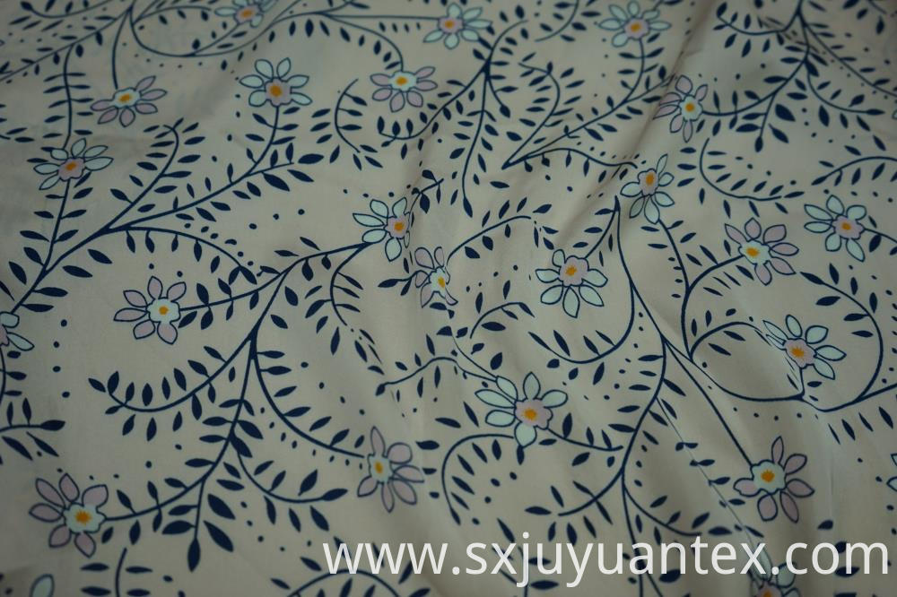 Sea Island Hammer Satin Print Fabric