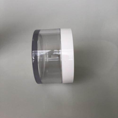 150ml clear PET jar with white lid