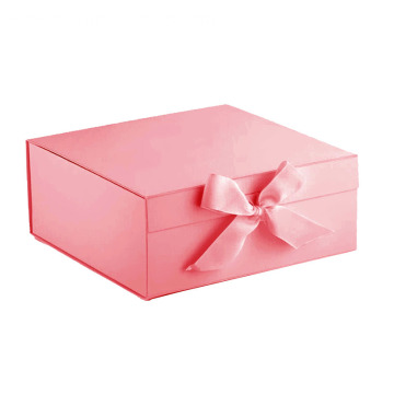 Gift Pink Paper Box With Ribbon
