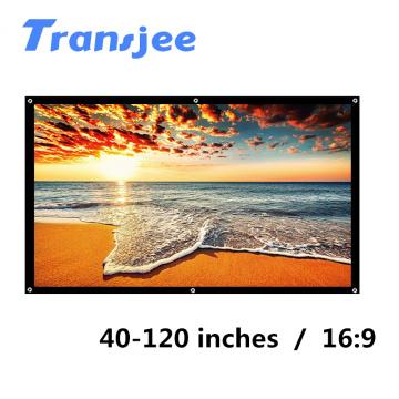 TRANSJEE Portable Projector Screen HD 16:9 Projection Screen Foldable Home Theate экран для проектора домашний