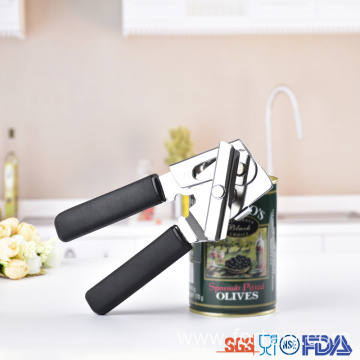 Ergonomic TPR handle unique big head can opener