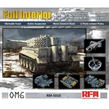 w/Fully Interior[Rye Field Model] Ryefield Model RFM RM-5010 1:35 Tiger I Middle Production